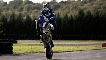 Daniel Müller auf seinem Motorrad, hier in Steinsoultz (Frankreich) im Oktober 2013.