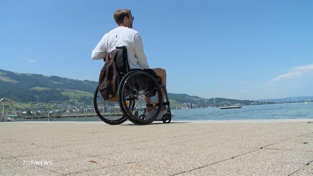Paraplegiker kämpft für Behindertenlift in Badi Lachen