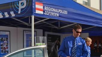 Der Stand der Regionalpolizei Zofingen am Herbstmarkt.  Martin Zürcher