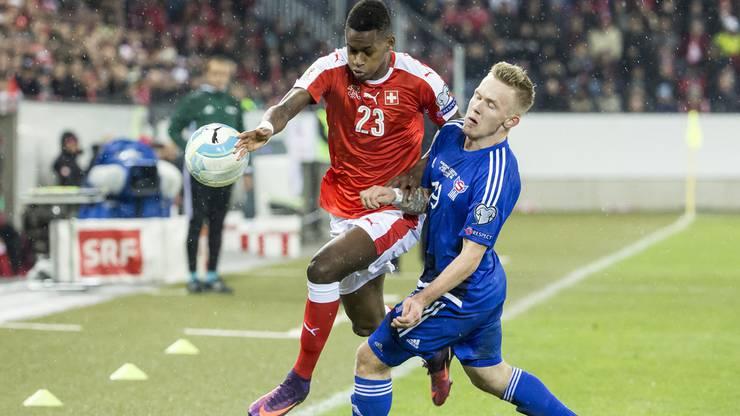 Die Schweizer im letzten Spiel Färöer.