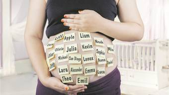 Werdende Eltern verraten jedes Detail über ihr Ungeborenes. Aber den Namen, jesses, den Namen, den gibt man nicht preis. Thinkstock/Montage MTA