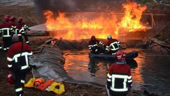 Hauptübung der Feuerwehr Windisch-Habsburg-Hausen.