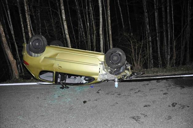 Die beiden Verletzten konnten den Wagen selber verlassen.
