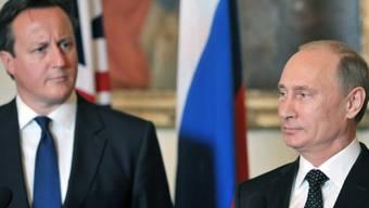 Syrien war Thema am Treffen von Cameron und Putin
