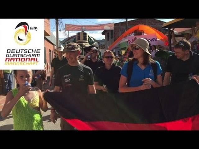 Eröffnung der Paragliding WM in Kolumbien – mit deutschem Blickwinkel