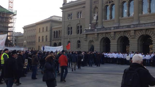 Die Demonstration auf dem Berner Bundesplatz.