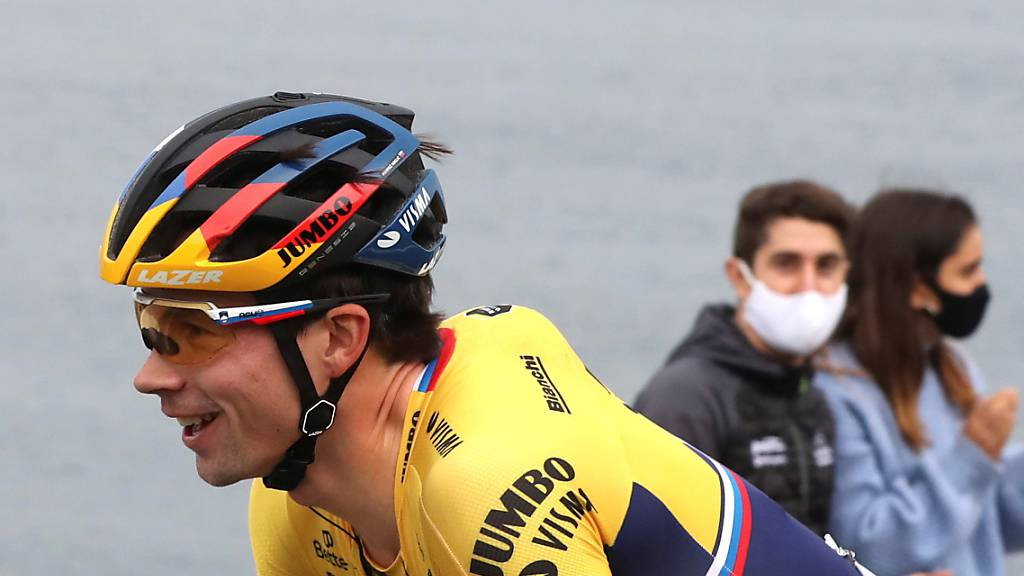 Hat gut Lachen: Der Slowene Primoz Roglic führt das Gesamtklassement der Spanien-Rundfahrt weiterhin an