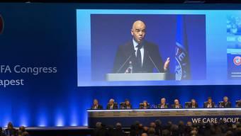 Die UEFA nahm bei ihrem Kongress in Budapest den Kosovo als Mitgliedsverband auf