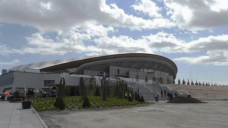 """Aussenansicht der neuen Heimstätte von Atlético Madrid: das neue Stadion   """"Wanda Metropolitano"""""""