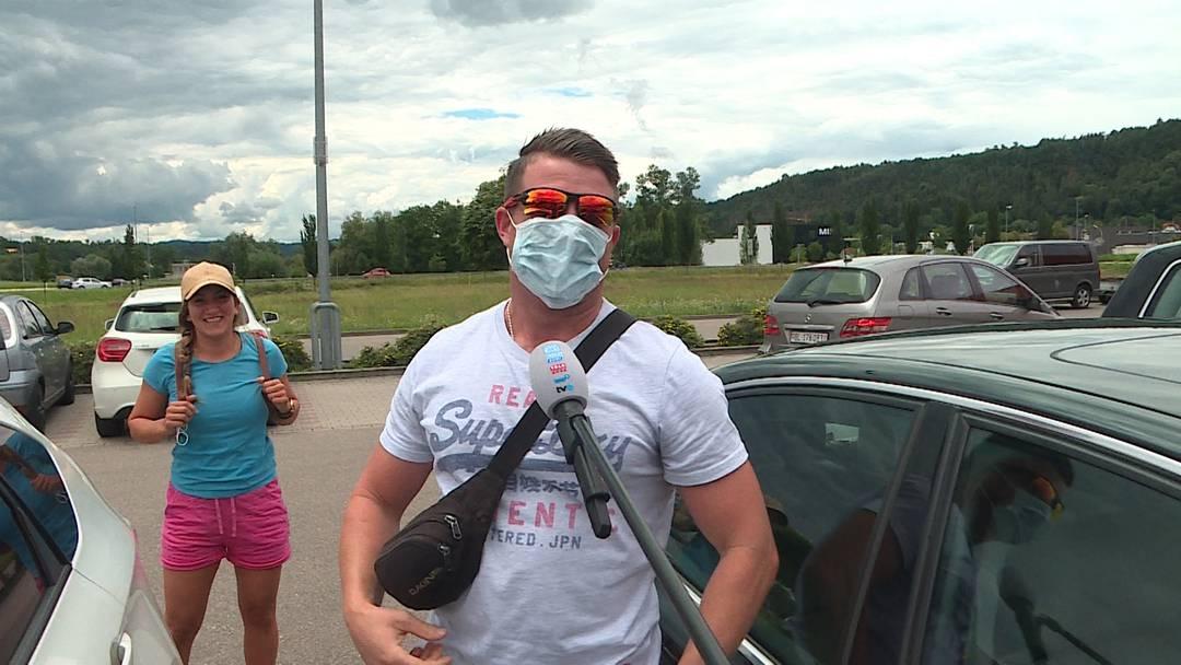 Halten sich die Einkaufstouristen nicht an die Maskenpflicht?