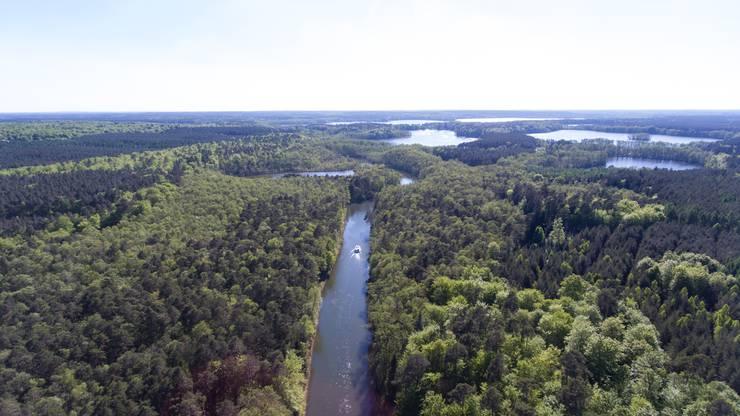 Die Woblitz führt mitten in den Naturpark Uckermärkische Seen.