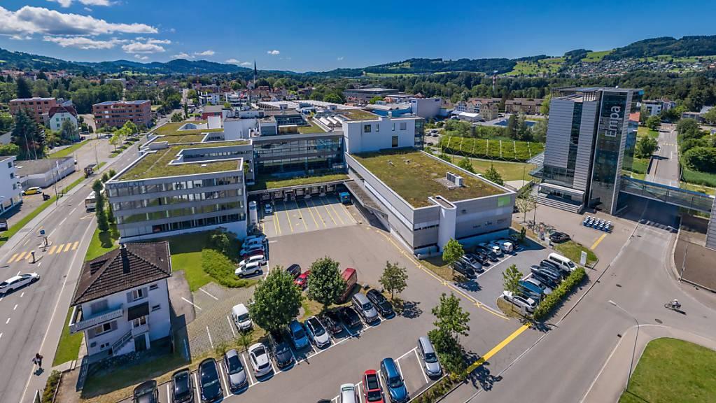 Der Innovationspark Ost soll in der Stadt St.Gallen in einem Gebäudekomplex an der Fürstenlandstrasse neben der Empa entstehen.