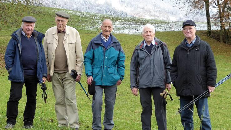 v.l. Anton Krapf; Eduard Büttler; Erwin Boner; Theo Borer und Anton Ackermann