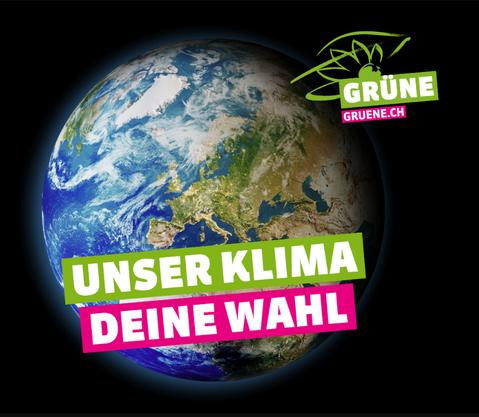 «Eine diplomatische Meisterleistung»: Erstmals überhaupt in ihrer Geschichte haben die Grünen ein nationales Plakatsujet.