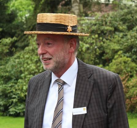 Hansueli Glarner, Leiter der kantonalen Abteilung Kultur, kam mit Strohhut