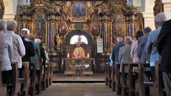 Eucharistiefeier zum Patrozinium der Klosterkirche Wettingen mit Abt Anselm van der Linde und dem Konvent der Zisterzienser Wettingen-Mehrerau