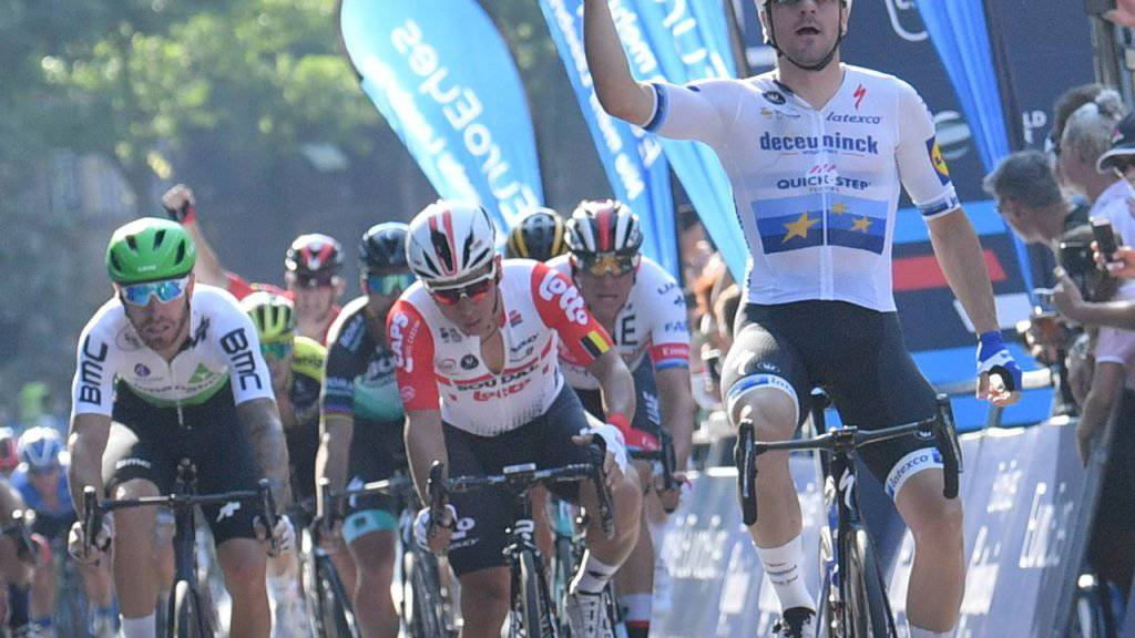 Freut sich an der Cyclassics Hamburg über seinen dritten Sieg in Folge: Strassen-Europameister Elia Viviani