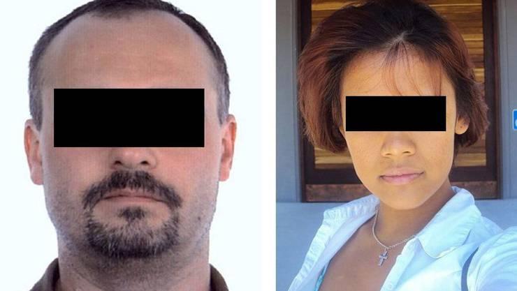 Täter und Opfer: Der 36-Jährige ist der Ex-Freund des 19-jährigen Opfers.