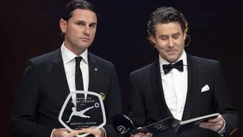 Gerardo Seoane (YB) wurde als bester Trainer geehrt.