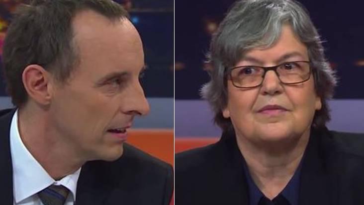 SVP-Grossrat Pascal Furer und Elisabeth Abassi, Präsidentin der Aargauer Lehrer