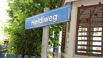 Der Heidiweg ist einer der wenigen Wege in der Stadt Solothurn, der einer - fiktiven - Frau gewidmet ist.