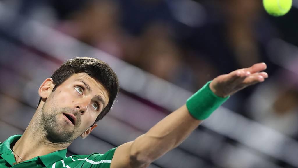 Novak Djokovic will wieder unter Wettkampf-Bedingungen aufschlagen.