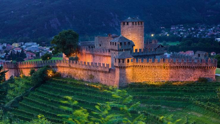 Das Tessin hätte viel zu bieten. Zum Beispiel das Schloss Montabello in Bellinzona.