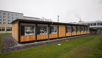 Niederrohrdorf: Im Frühjahr wird der Pavillon um zwei Etagen aufgestockt.spichale
