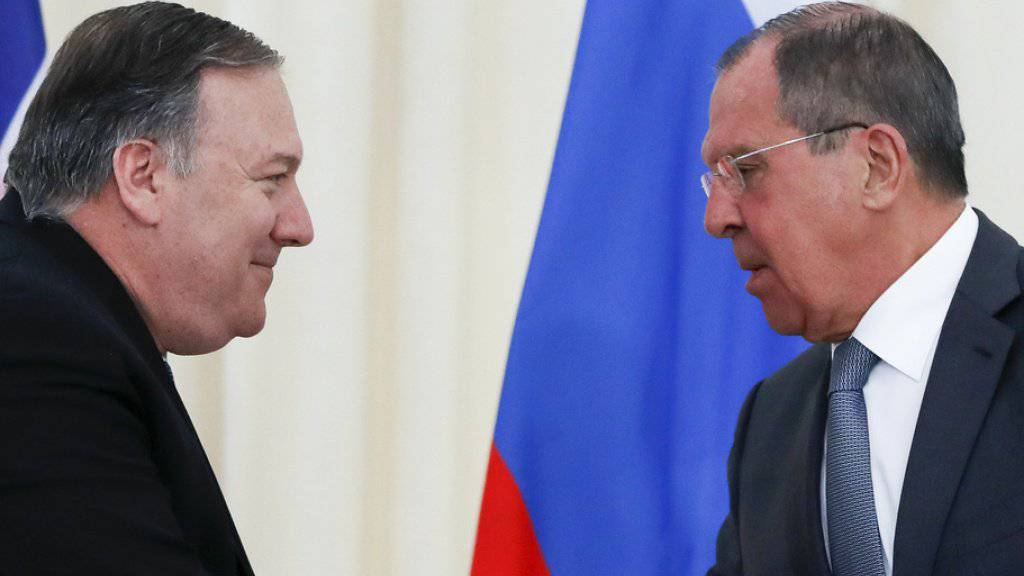 US-Aussenminister Mike Pompeo (l) und sein russischer Amtskollege Sergej Lawrow tauschten sich am Dienstag in Sotschi mehrere Stunden über zahlreiche internationale Konflikte aus.