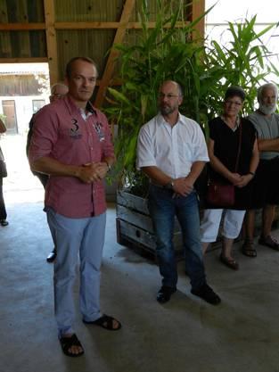 Bürgergemeindepräsident Thomas Jäggi und René Sutter (Gemeindepräsident Steinhof)