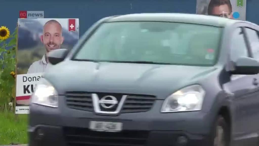 Autofahrer nerven sich über Wahlplakat-Dschungel