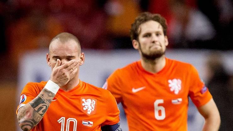 Die Enttäuschung von Wesley Sneijder und Daley Blind