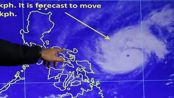Stürmische Weihnachten: Windgeschwindigkeiten von bis 222 Kilometern pro Stunde soll Taifun Nock-Ten mit sich bringen.