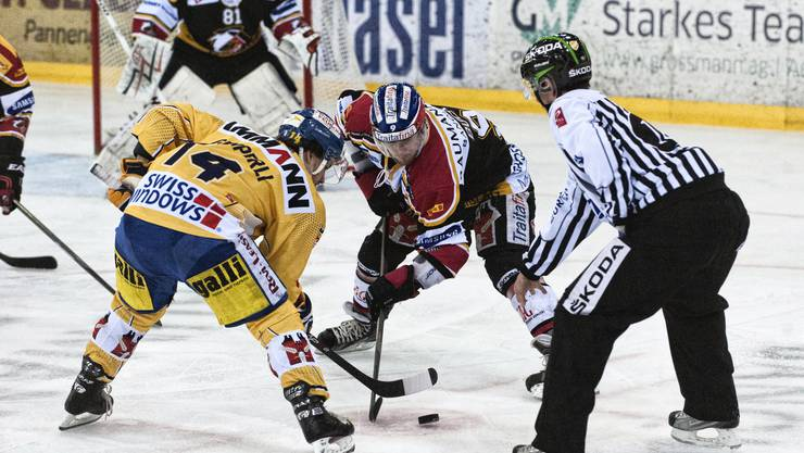 Die Sharks bei einem ihrer letzten Spiele gegen den SC Langenthal.