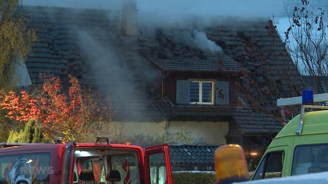 Brand verwüstet Einfamilienhaus in Wichtrach