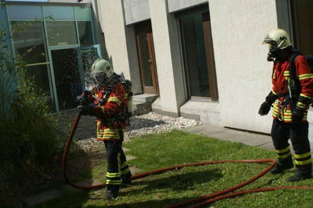Kurze Abkühlung für Feuerwehrmann aus Möhlin