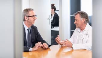 Die Reha-Leiter Matthias Mühlheim (l.) und Thierry Ettlin.
