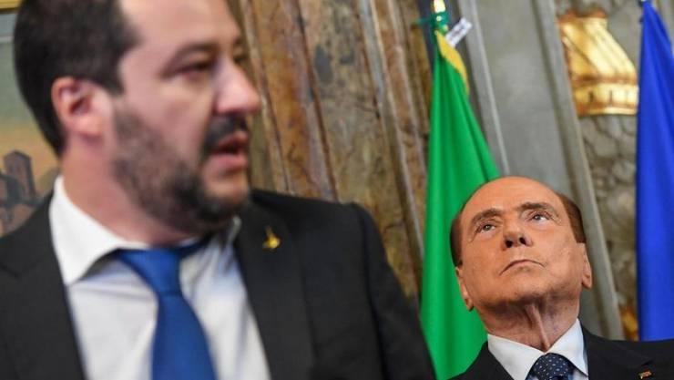 Lega-Chef Matteo Salvini arbeitet anscheinend an einer Allianz mit Forza Italia von Silvio Berlusconi. (Archivbild)