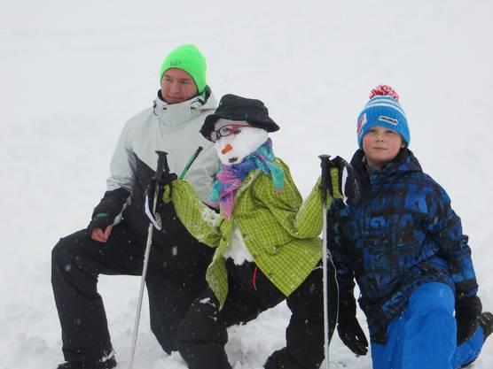 Beim Schneemannwettbewerb war der Fantasie keine Grenzen gesetzt.