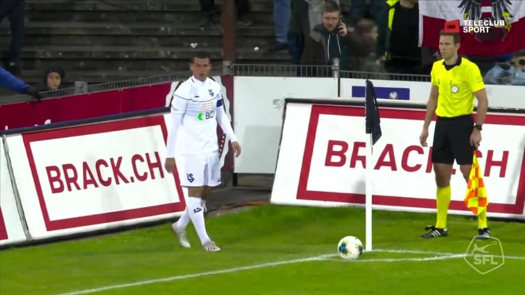 Challenge League 2019/20, 11. Runde:  FC Aarau - FC Lausanne-Sport, 3. Minute