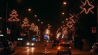 Die Weihnachtsbeleuchtung in Wettingen