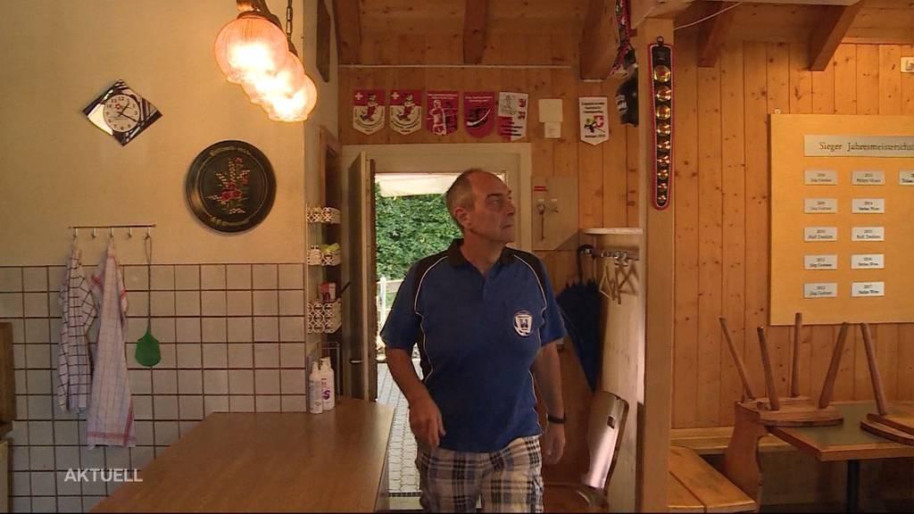 Diebe entwenden Siegestrophäen aus Klubhaus von Hornussergesellschaft