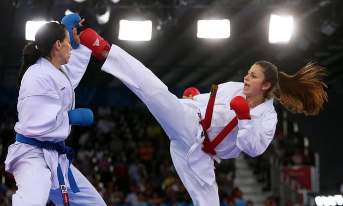 Karate: Elena Quirici (im Bild rechts, Schinznach-Dorf, bis 68 kg).