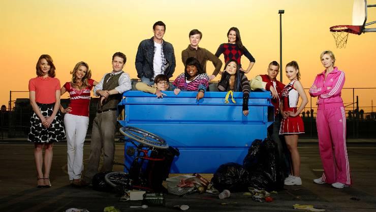 Bringen Leben in die serbelnde US-Musikindustrie: Die Darsteller der Fernsehserie «Glee». Foto: ho