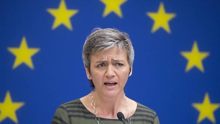 Sie sagt Nein zum geplanten milliardenschweren Mobilfunk-Deal in Grossbritannien: Die EU-Wettbewerbskommissarin Margrethe Vestager.