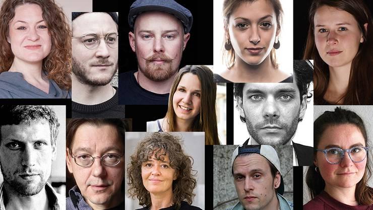 Hier könnte ihr Portrait hängen. Diese zwölf waren die Gewinner der Förderpreise 2016, sowie der Atelierstipendien 2017.