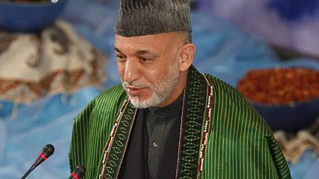 Afghanischer Präsident Hamid Karsai (Archiv)