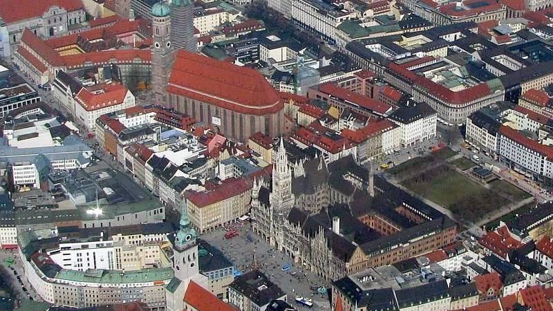 Luftbild der Münchner Innenstadt (Symbolbild).