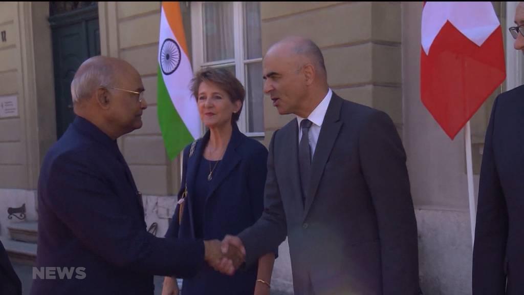 Indischer Staatspräsident zu Besuch in Bern