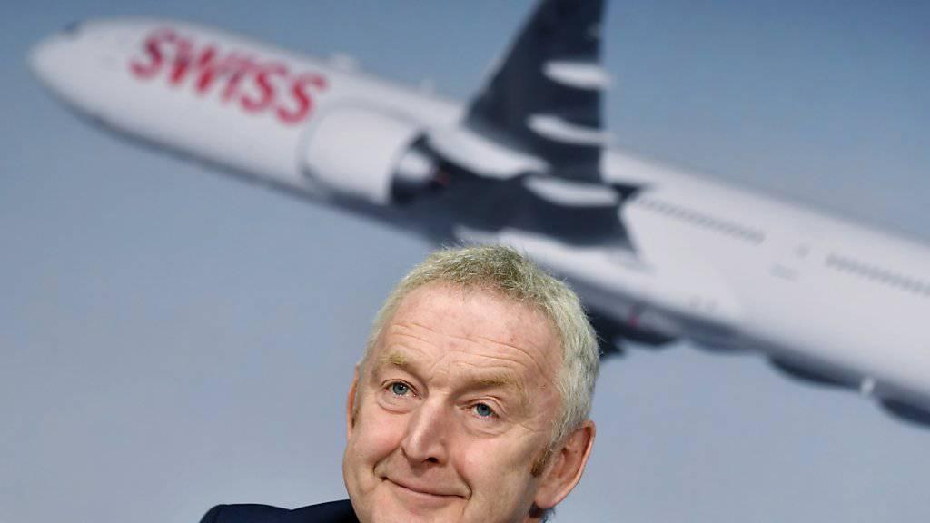 Swiss-Chef Thomas Klühr kann sich freuen: Die Schweizer Fluggesellschaft hat 2018 einen neuen Passagierrekord aufgestellt. (Archiv)